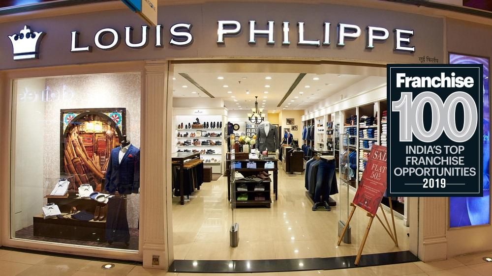 लुइस फिलिप ने टॉप 100 फ्रैंचाइज़ ब्रांड्स में बनाया अपना स्थान
