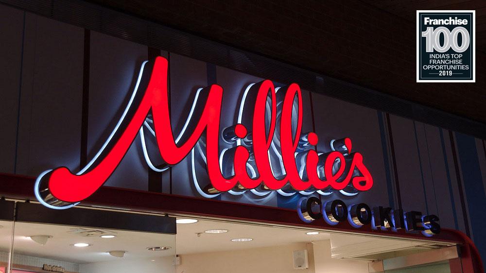मिलीज कुकीज ने टॉप 100 फ्रैंचाइज़ ब्रांड्स लिस्ट में बनाई अपनी जगह