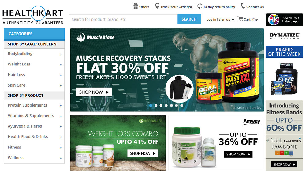 HealthKart bets big on health and nutrition market in India