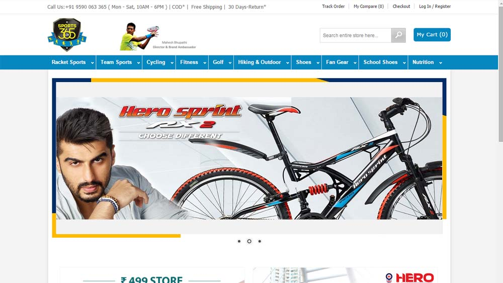 Hero Cycles join hands with sports365.in; promoting wellness with actor Arjun Kapoor