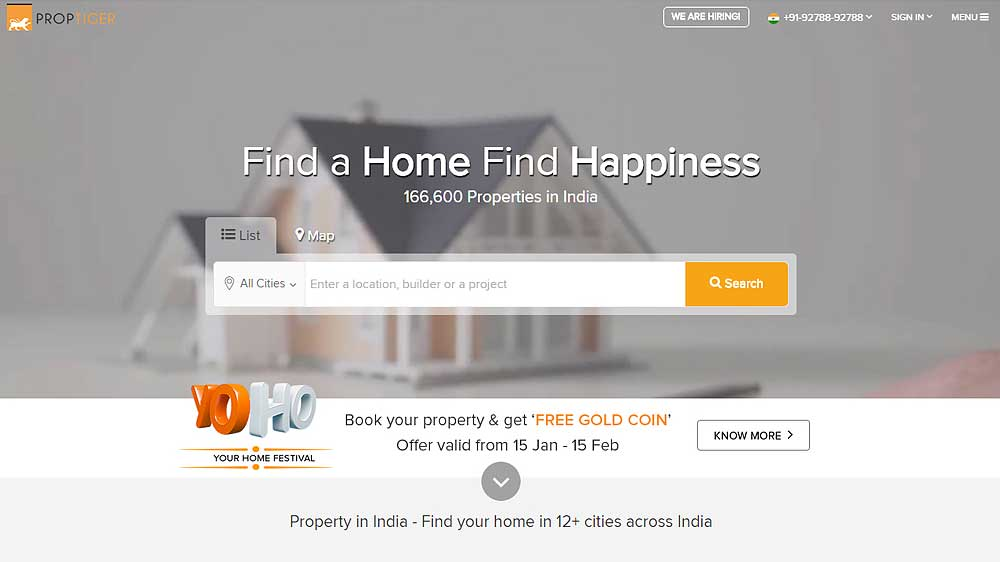 PropTiger.com to offer home buyers a peek into the future of cities