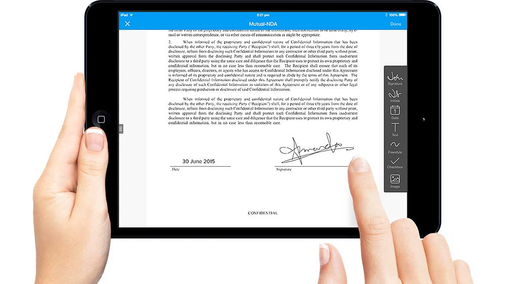 SignEasy is among the list of 10 small business apps recommended by Apple
