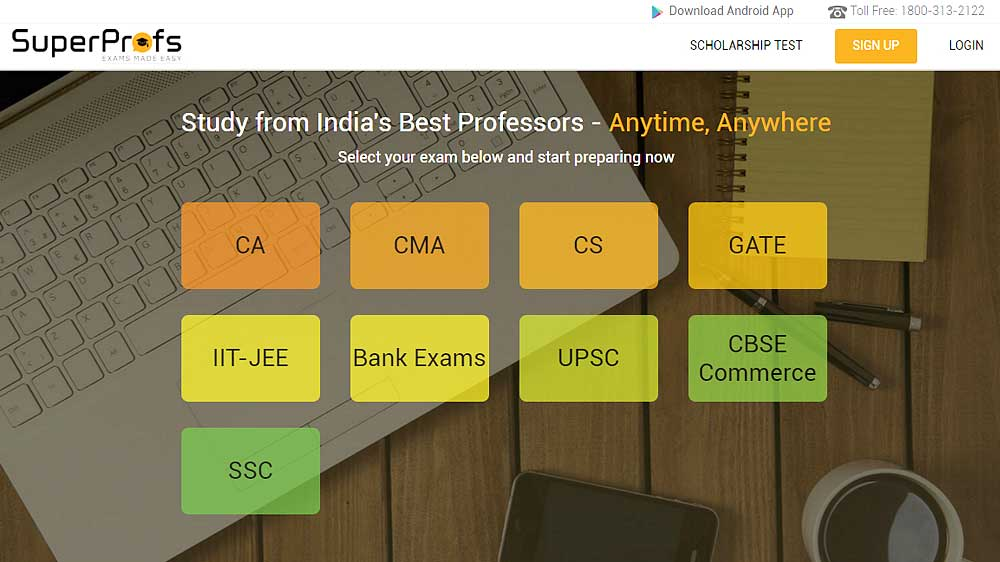 SuperProfs launches a mobile app for exam preparation