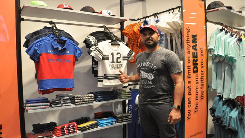 Yuvraj Singh's brand YWC launches 2nd standalone store in Chandigarh