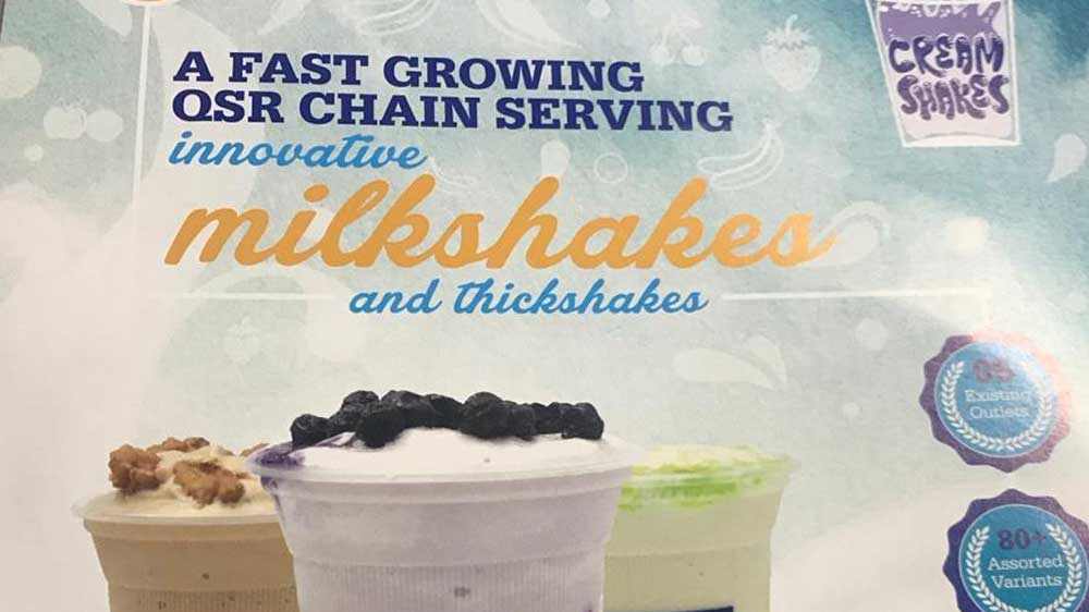 Cream Shakes aims to build its network through a robust franchising strategy