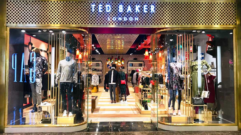 Luxury brands 'Ted Baker' & 'Hackett London' open their stores in Ambience Mall Gurgaon