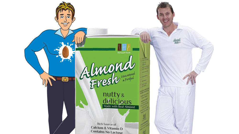 Life Health Foods launches Almond Fresh India with Brett Lee
