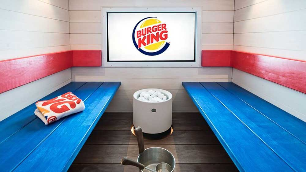 Now you can eat your favourite whopper at sauna