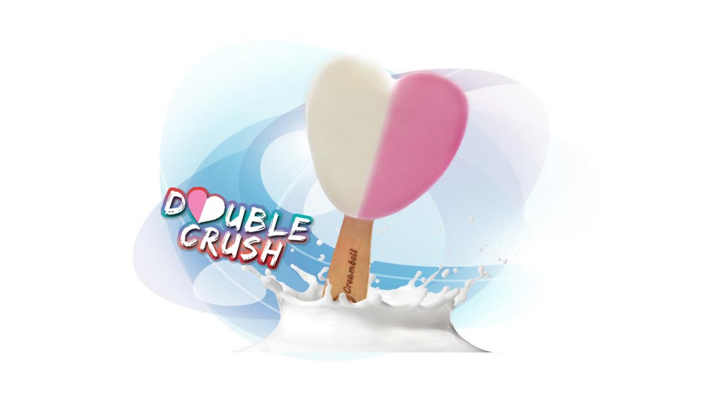 Creambell introduces \'Double Crush\' heart shaped ice cream