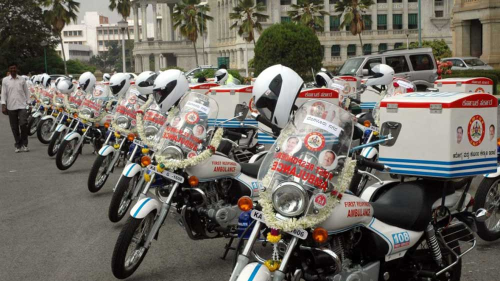 Delhi government starts bike ambulance services