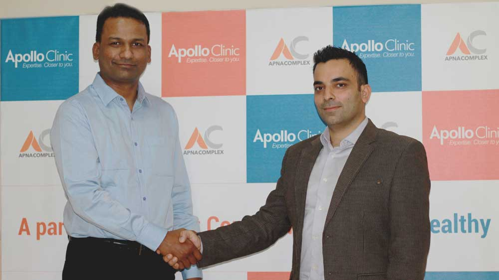 """Apollo Clinic partners with ApnaComplex to set up India's first """"Society Clinics"""" chain"""