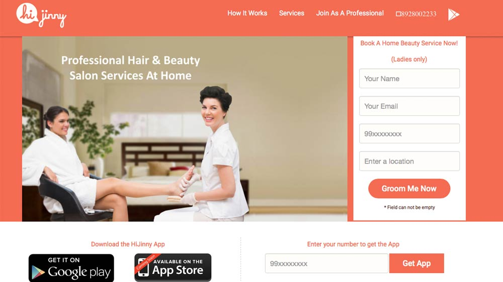 Beauty & wellness start-up HiJinny.com bags angel funding; offers at-home service