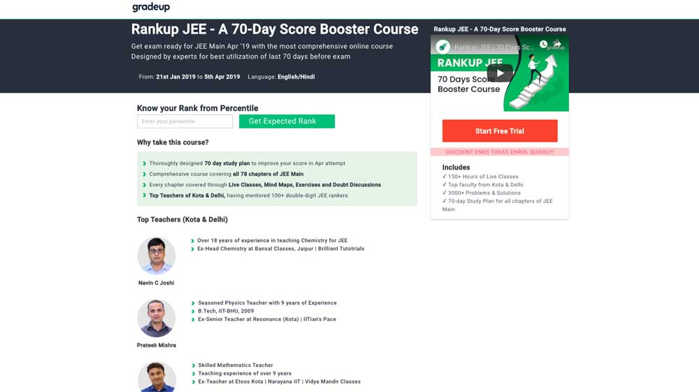 Gradeup launches Rankup JEE course to aid JEE aspirants to boost scores