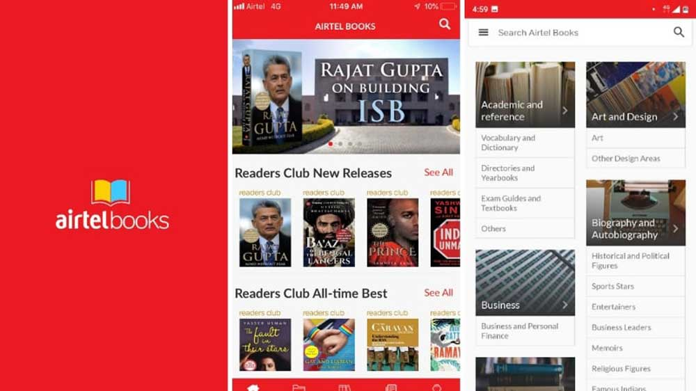 Bharti Airtel launches its e-book services