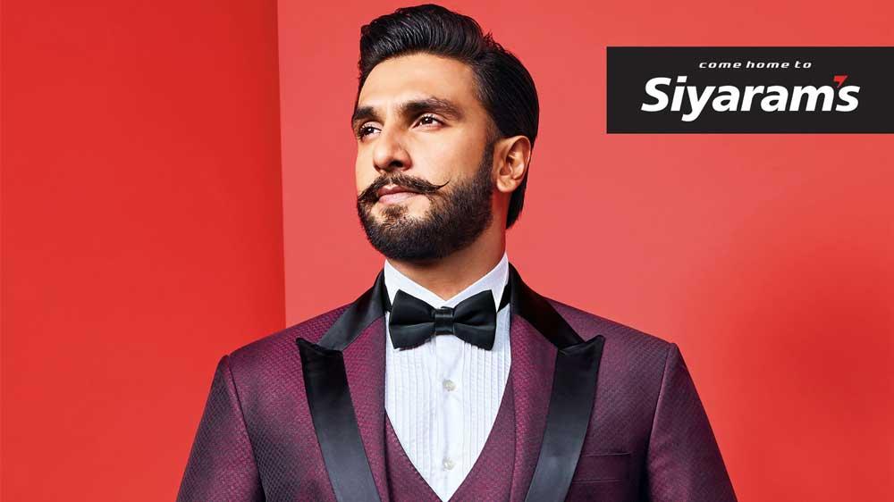 Siyaram's introduces Ranveer Singh as their New Brand Ambassador