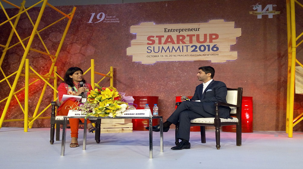 Abhinav makes his presence felt in the Start-up India summit session