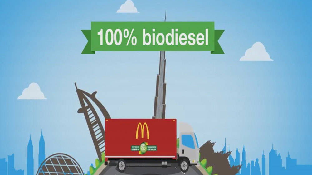 McDonald's converts used cooking oil into biodiesel for refrigerated delivery trucks