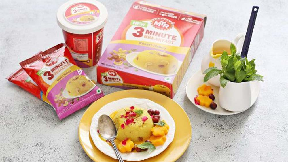 Bengaluru-Based MTR To Expand its '3 minute' breakfast range