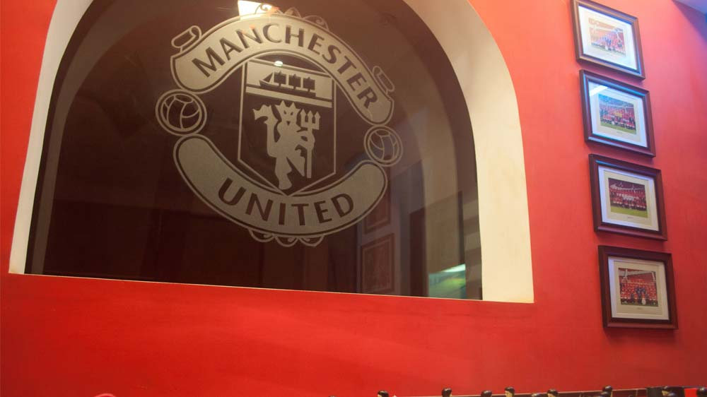 Birthday Celebration at Manchester United Cafe Bar