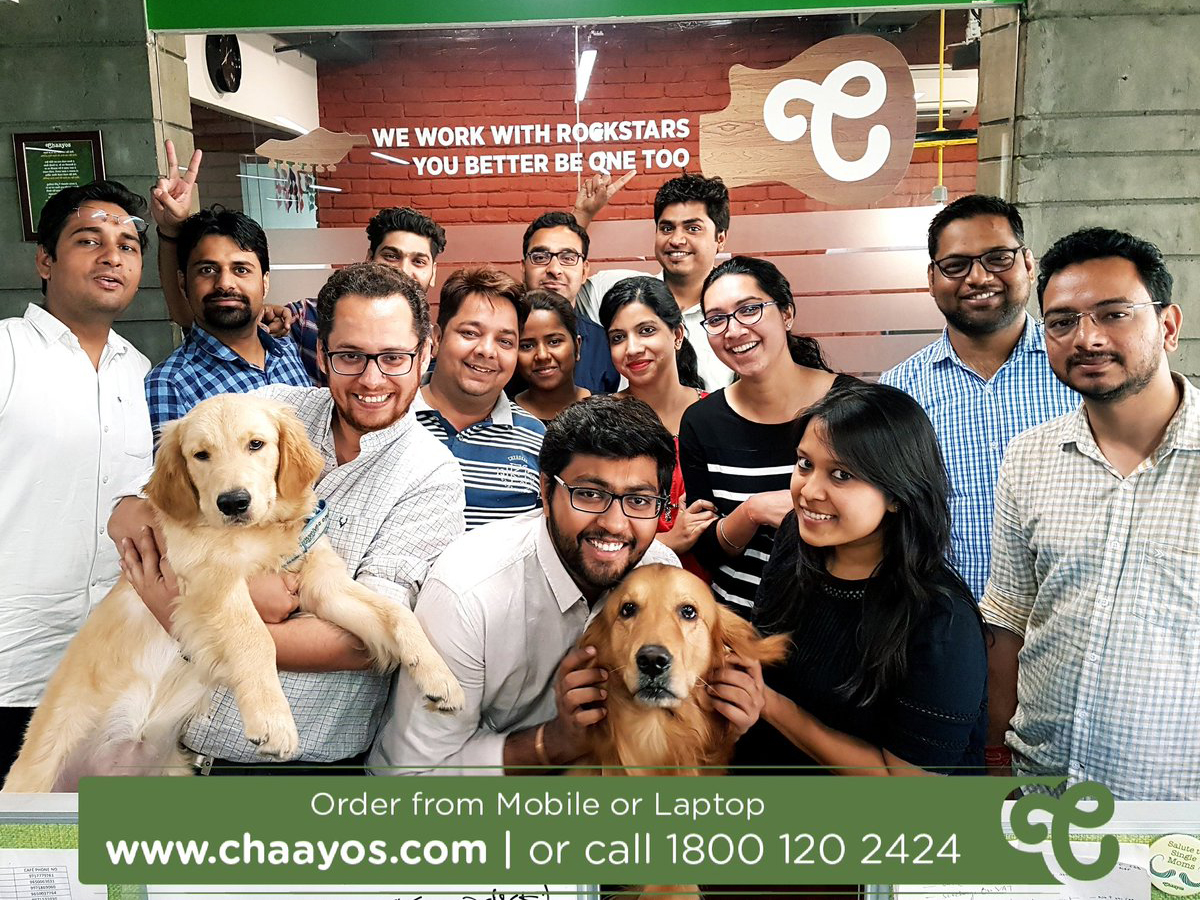 ​Dogs are welcome at Chaayos' head office