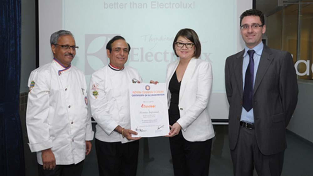 ICF Certifies Electrolux Tandoor Concept for Cooking Indian Cuisines