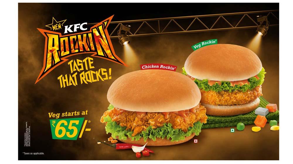 KFC brings Rockin Burgers