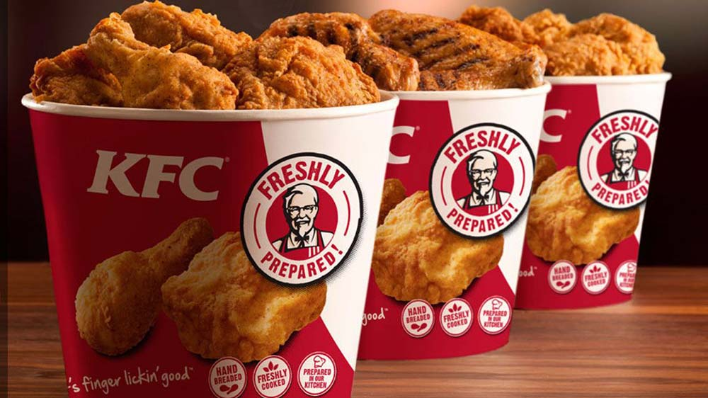 KFC offers home delivery to some customers