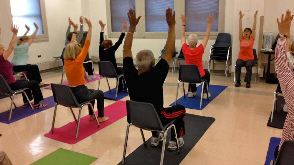 Lite Bite Foods hosts Chair Yoga session for its employees