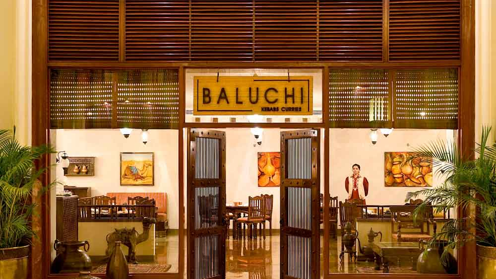 Lunch 'Thali' at Baluchi, The Lalit