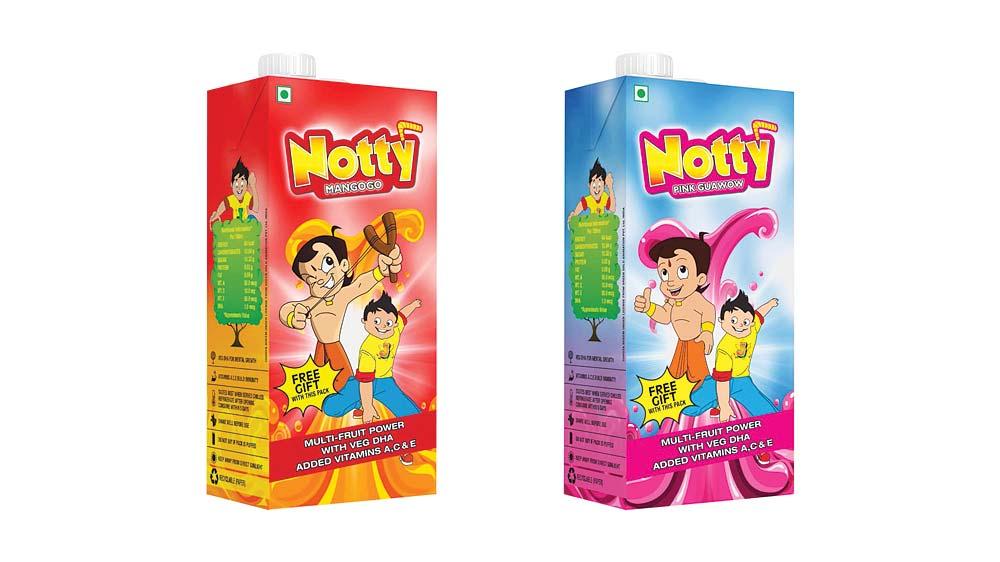 Notty fruit drink in 1 litre tetra pak