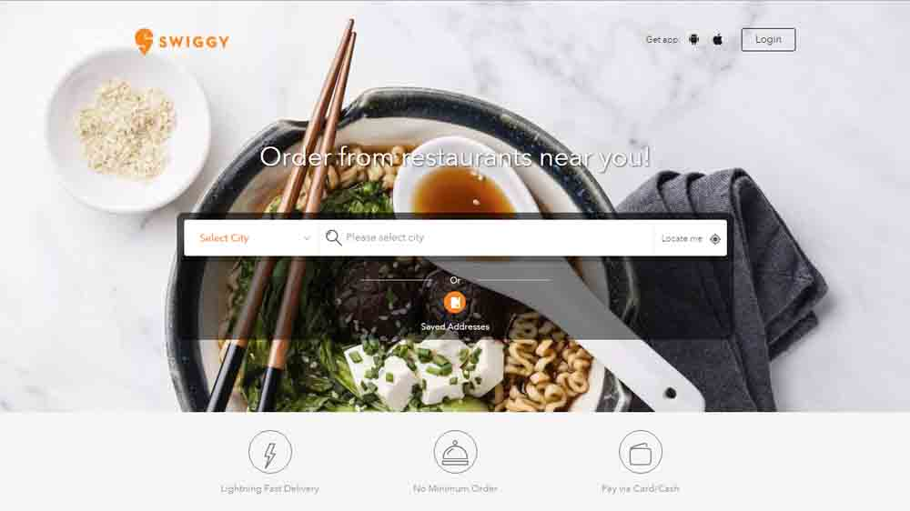 Online food service provider Swiggy secures $ 16.5 mn from group of investors