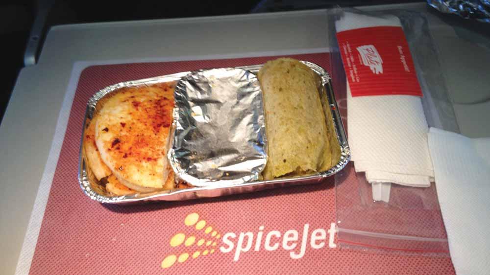 SpiceJet launches in-flight menu