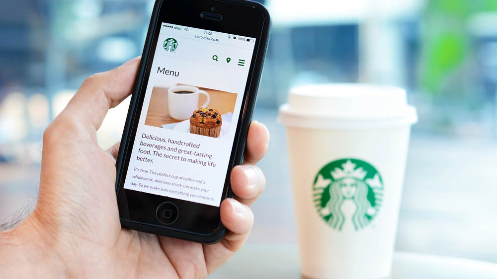 Starbucks focus on delivering food at an ease