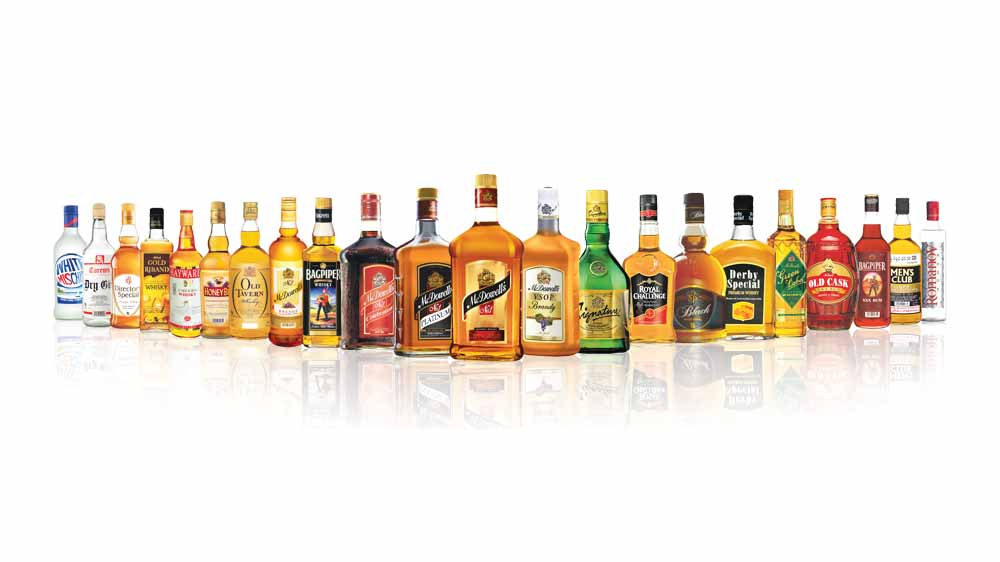 United Spirits stock down