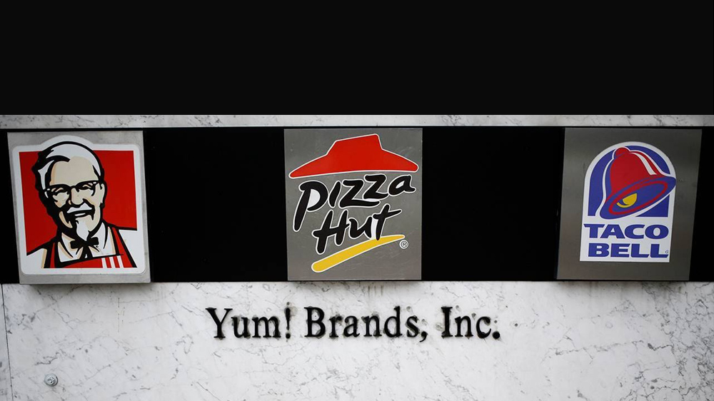 yum brands All of the brands belonging to yum brands, the parent company which owns  taco bell, pizza hut, and kentucky fried chicken, were given an.
