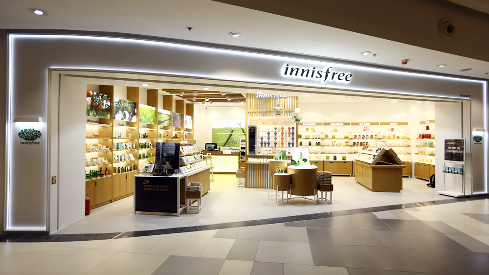 Korean Beauty Brand 'Innisfree' Launches Its First Flagship Store In Chennai