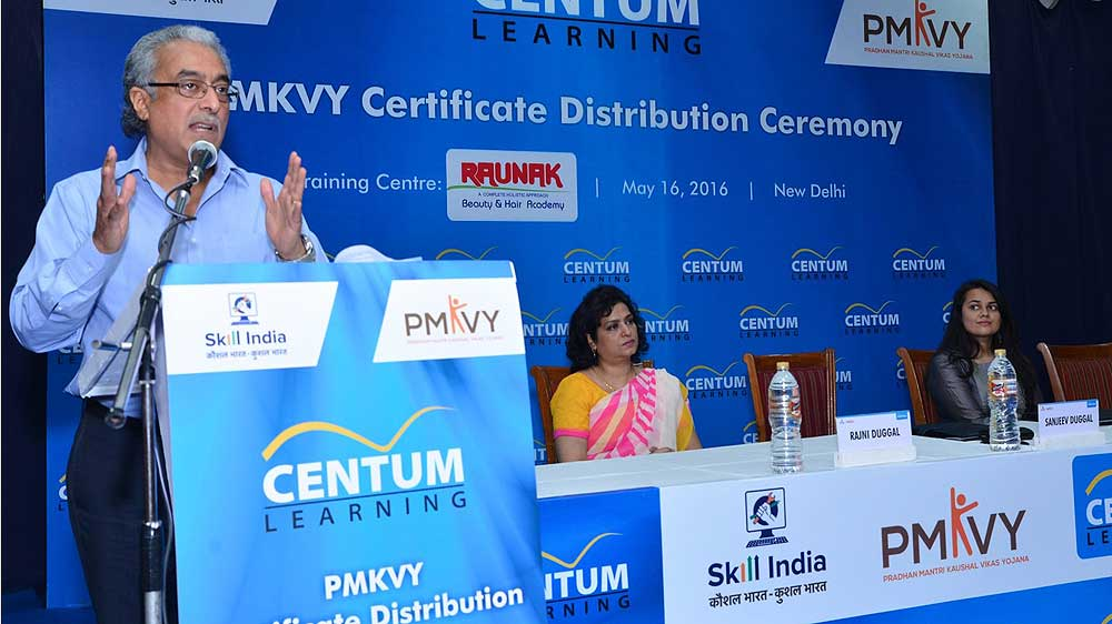 Centum Learning felicitates skilled Beauty & Wellness professionals under PMKVY