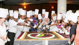 Cake Mixing Fest at Peninsula Grand Hotel