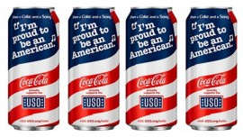 Coca Cola designs patriotic can for Memorial Day
