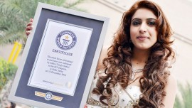Ishika Taneja etches her name in Guinness Book for doing fastest airbrush make-up