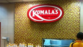 Komala's restaurant enters India