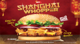 Burger King offers a limited period Chinese take on Whopper